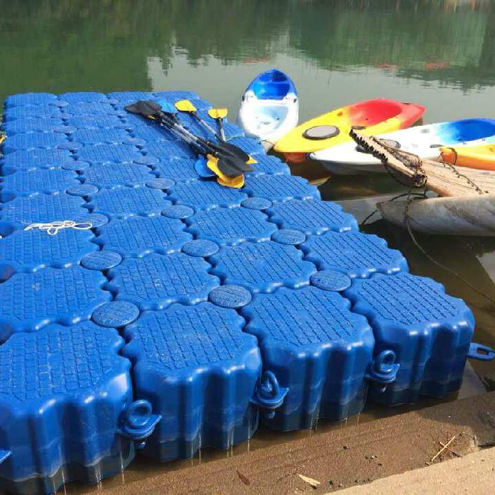水上经久耐用的塑料浮筒 黄岩水上游船浮筒码头
