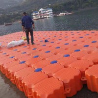 安全美观的水上塑料浮筒 水上观光浮桥
