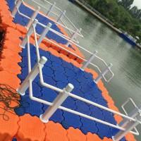 水上塑料儿童游乐浮筒码头  景观水上浮桥浮筒生产厂家