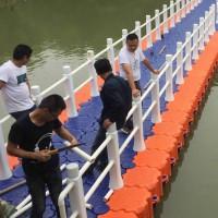 浮桥 水上浮动浮筒 码头  摩托艇泊位凹槽浮筒