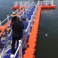 公园专用游船浮筒码头  水上养殖垂钓塑料浮筒平台
