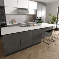 进口岩板大板瓷 平面直边纯白哑光厨柜中岛餐桌台面岩板建筑外墙
