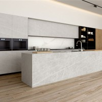 新阿玛尼灰岩板 厨房橱柜台面定制 岩板轻奢风餐桌桌面 浴室柜面洗手台面