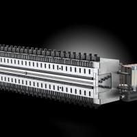 精岳模具 一出二PP建筑模板模具 PC中空梯型瓦模头 PP中空建筑模板模头 中空格子板模头