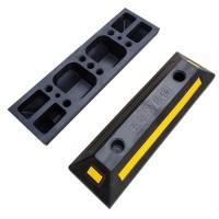 晟途交通 黑黄四孔定位器 双停实心定位器 加强型定位器 橡胶定位器 停车位挡车器
