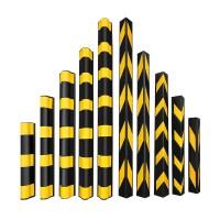 厂家直销量大优惠 1米地下车库立柱橡胶护角1.2米米优质橡胶反光护角直角防撞条模板
