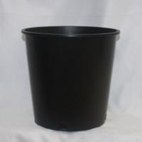 批发户外黑色加厚耐用塑料花盆 欧月绣球种植加仑盆